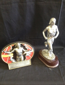 Cross Country Trophies in Stock:             Burst thru oval 8 inch- 15.50 Resin Running- 18.25