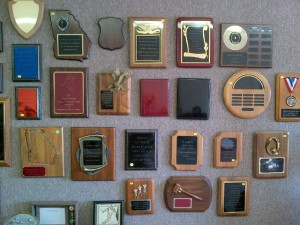 Plaques for businesses, sports, academics, and special occasions $29-115